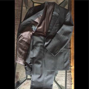 Burberry Suit 42 R Grey Pinstripe Jack 34 Pants